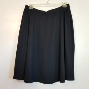 Woman Within Black Stretch Skirt 20W